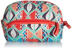 Vera Bradley Iconic Mini Cosmetic, Signature Cotton, Go Fish