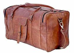kpl 21 inch vintage leather duffel travel