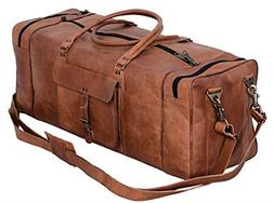 kpl 30 inch large leather duffel travel