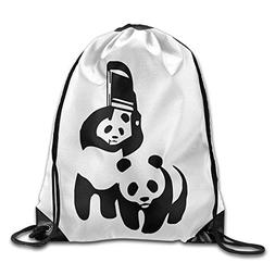 Kuso Funny Panda Drawstring Bag Backpack Draw Cord Bag Sackp