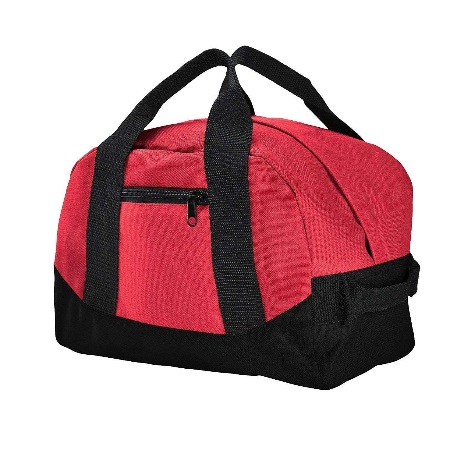"""12"""" Duffle Travel Carry-on Luggage Two Tone"""