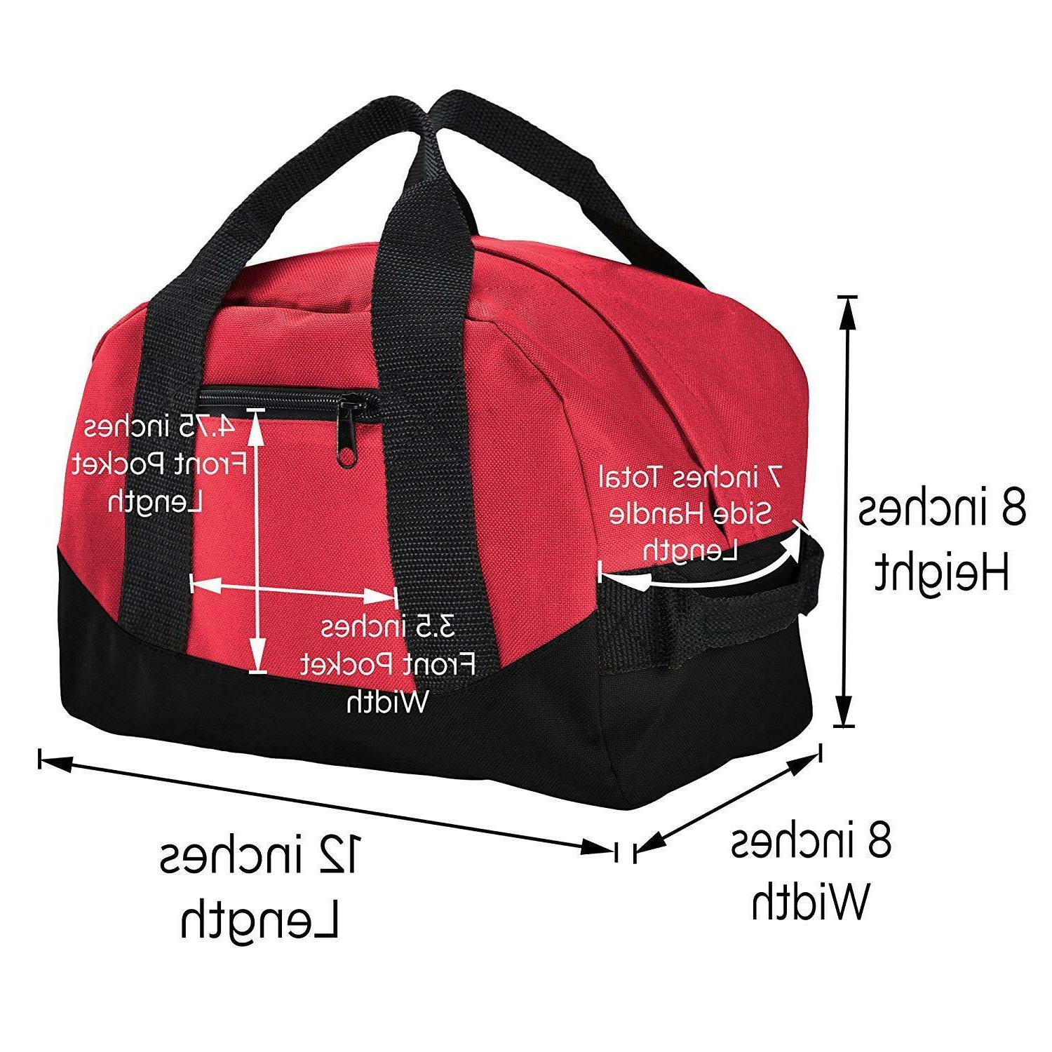 """12"""" Duffle Sports Carry-on Small Two Tone"""