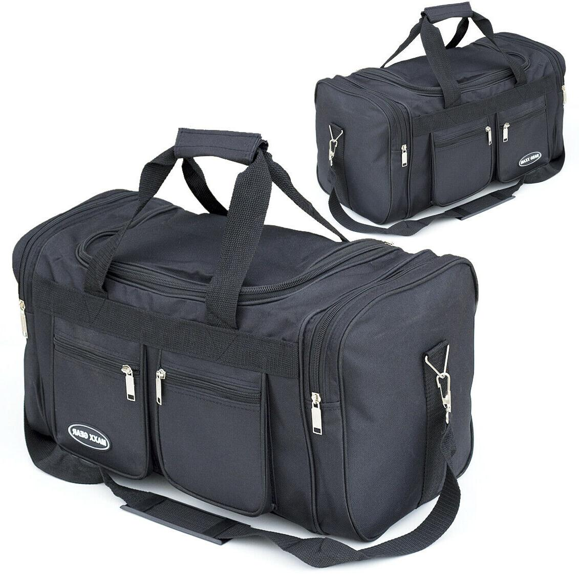 18 and 22 inch duffle bag black