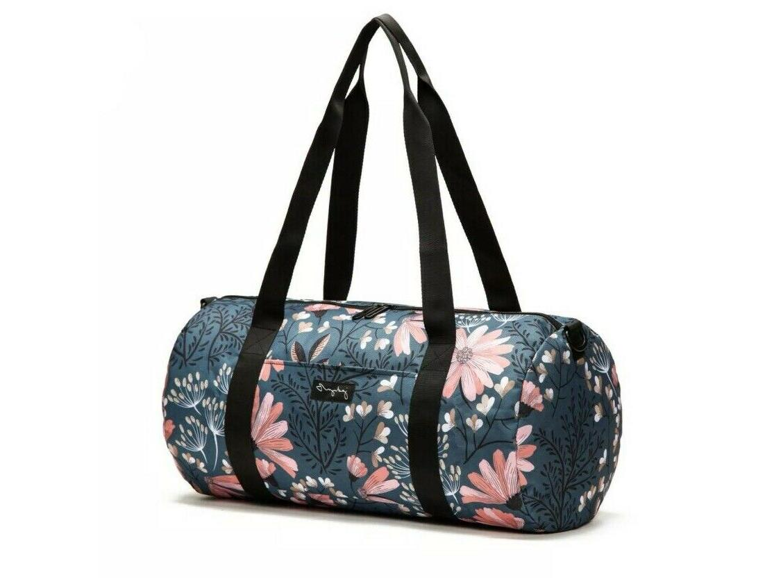 "Jadyn B 19"" Barrel Women's Duffel Bag, Navy Floral New"
