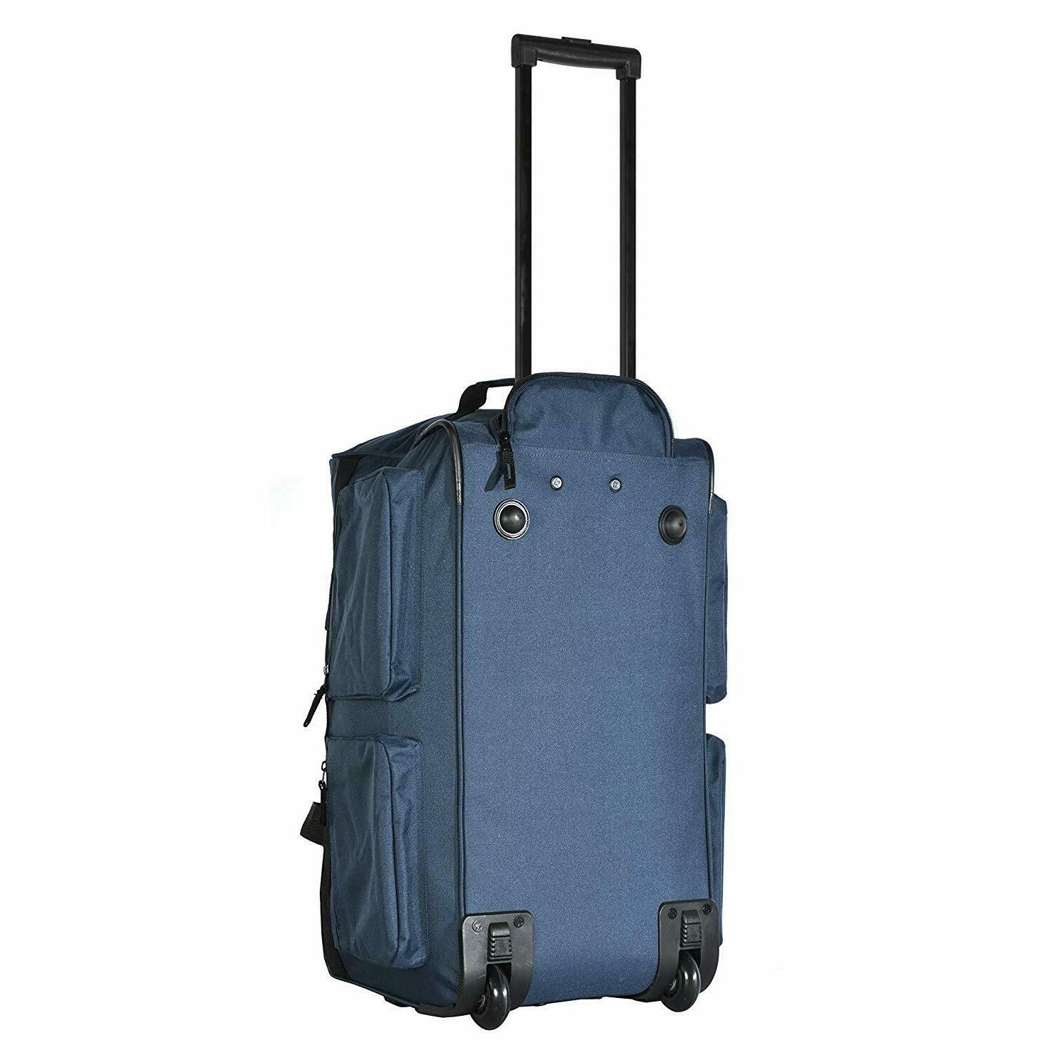 22 Rolling Duffle Bag Suitcase 8 Navy