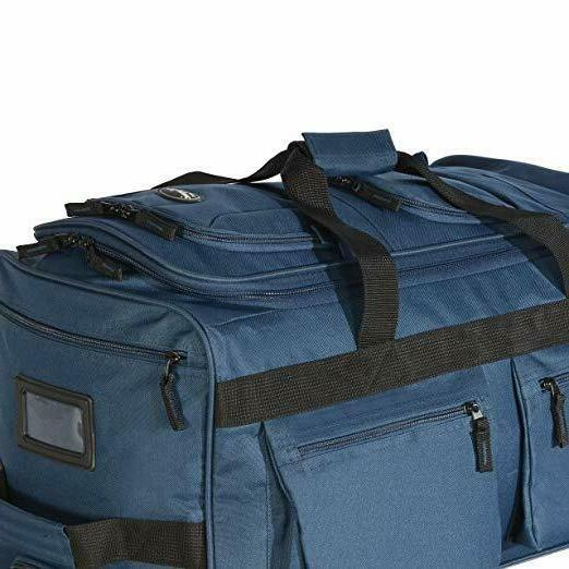 22 Rolling Duffle Bag With Wheels Suitcase 8 Pocket