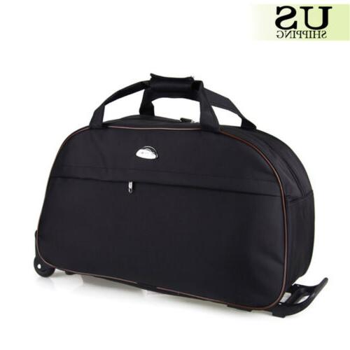 Duffle Carry Luggage Travel Suitcase with Wheels