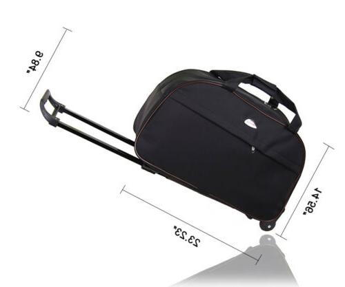 """24"""" Wheeled Duffle Bag Tote Travel Suitcase Lightweight"""