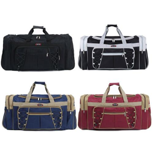 """26"""" Canvas Bag Carry-on Tote Luggage &Strap"""