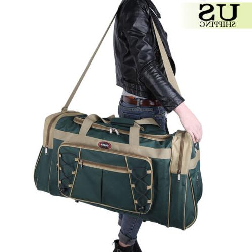 "26"" Waterproof Tote Travel Gym Bag Duffle Carry Luggage"