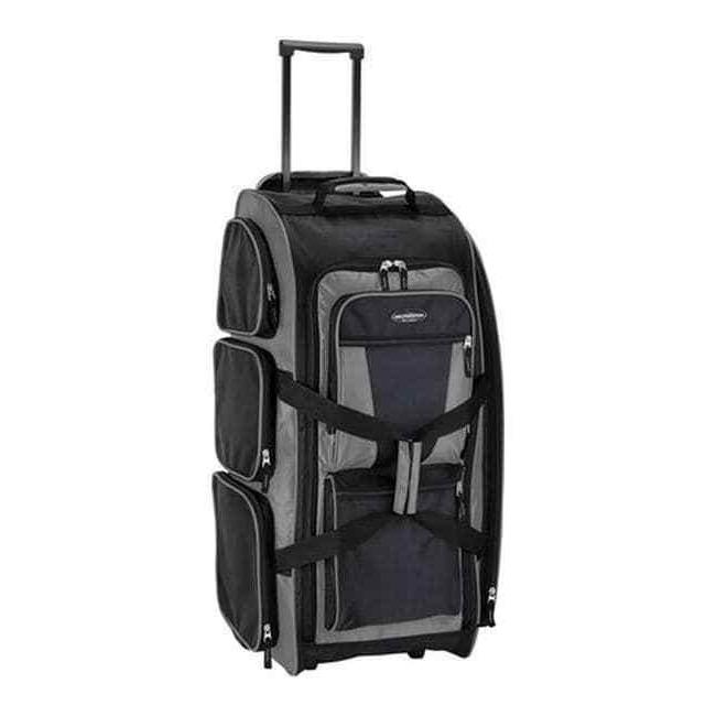 """30"""" Lightweight Gray Charcoal Spinner Luggage Multi-Pocket"""