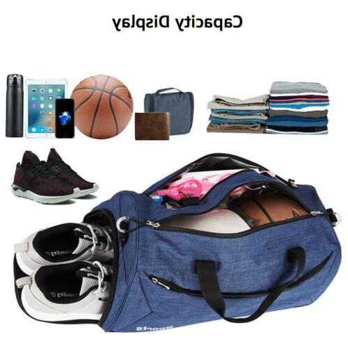 35L Duffle Men's Tote Overnight Luggage w/Shoes