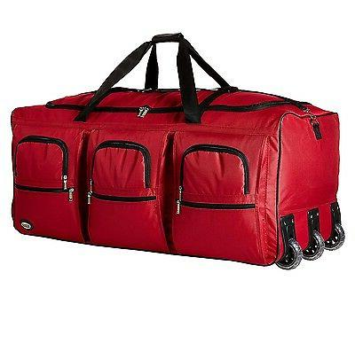 Rockland 40 ROLLING DUFFLE PRD340-RED Duffle Bag NEW
