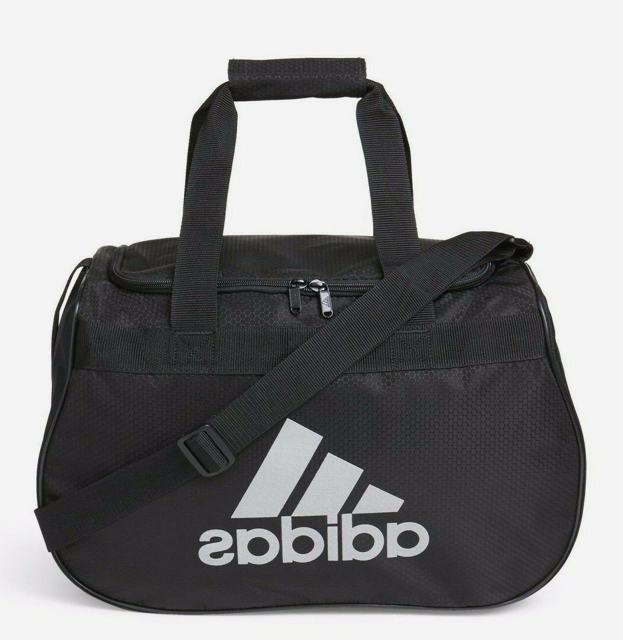 f57f34d7d4 ADIDAS Diablo SMALL Duffel Bag BLACK SILVER Sports Gym Locke