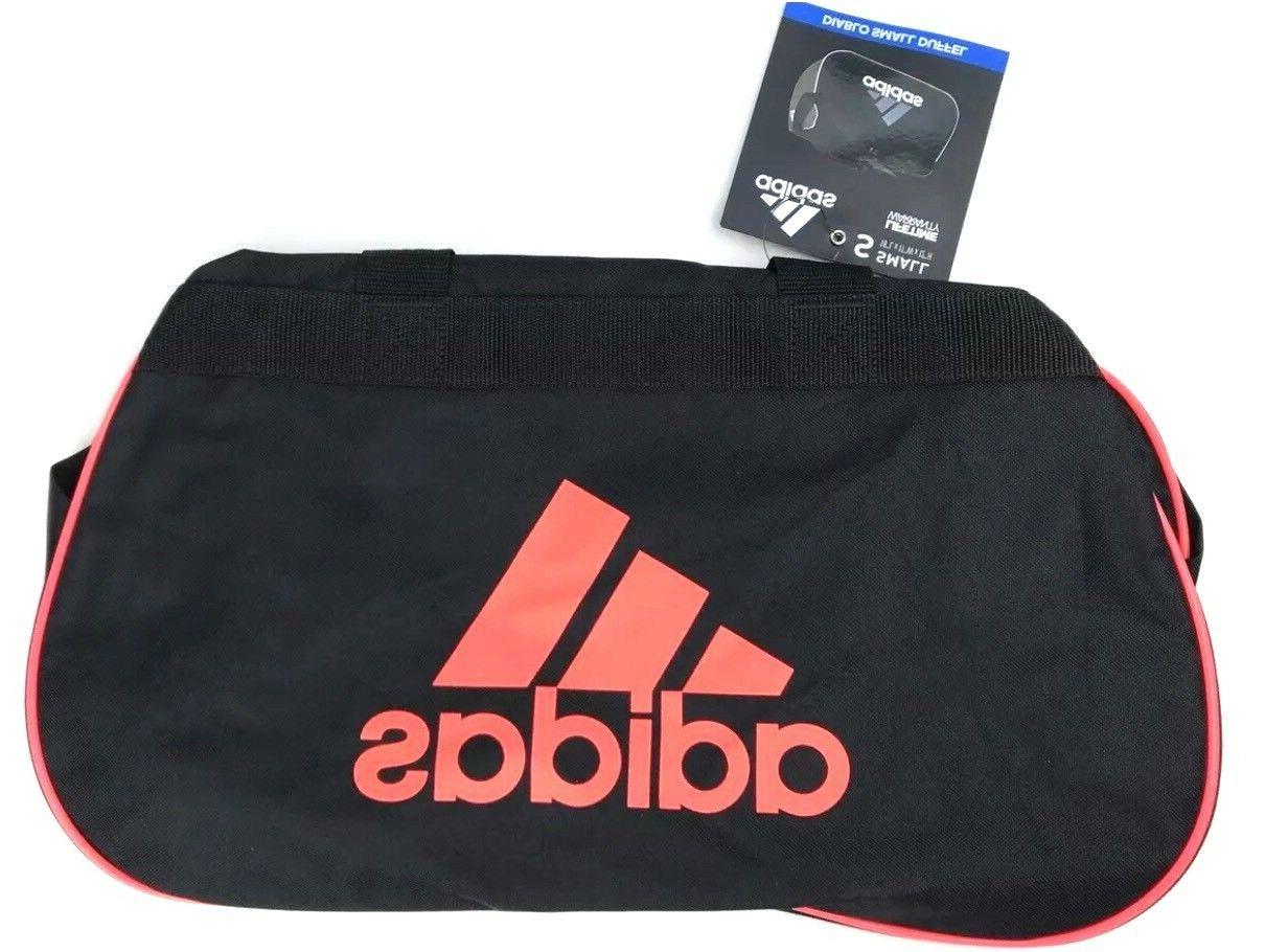 ADIDAS Diablo Small Duffel/Gym Bag Black Infrared Logo Unise