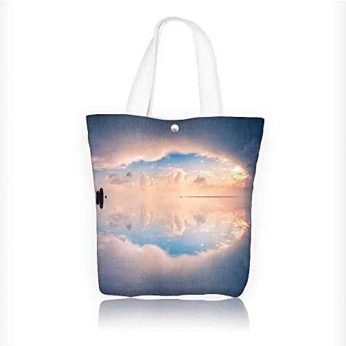 Canvas Tote Bag A beautiful dreamy sky Zipper Closure Grocer