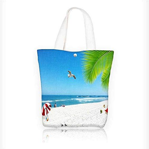 Canvas Tote Bag The beautiful scenery of the sea and sand un
