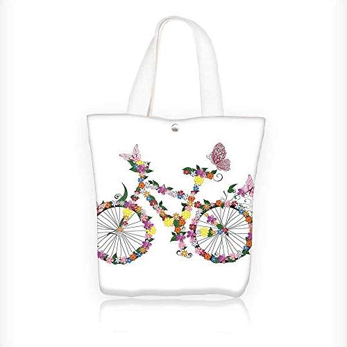 Canvas Tote Handbag Bike with Buttertime Fun Cycling Exercis