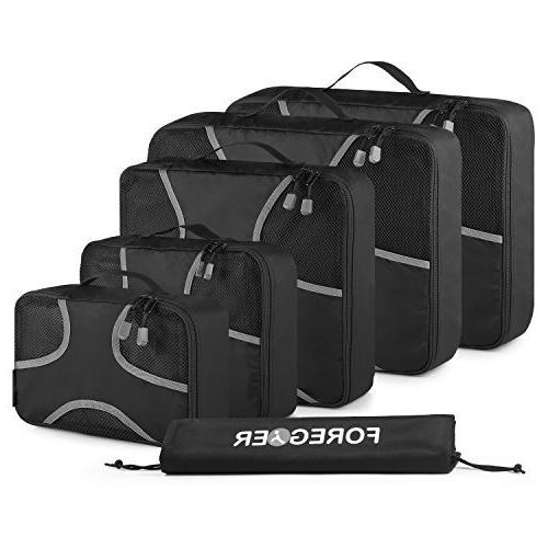 FOREGOER 5 Set Packing Cubes Travel Luggage Organizers with