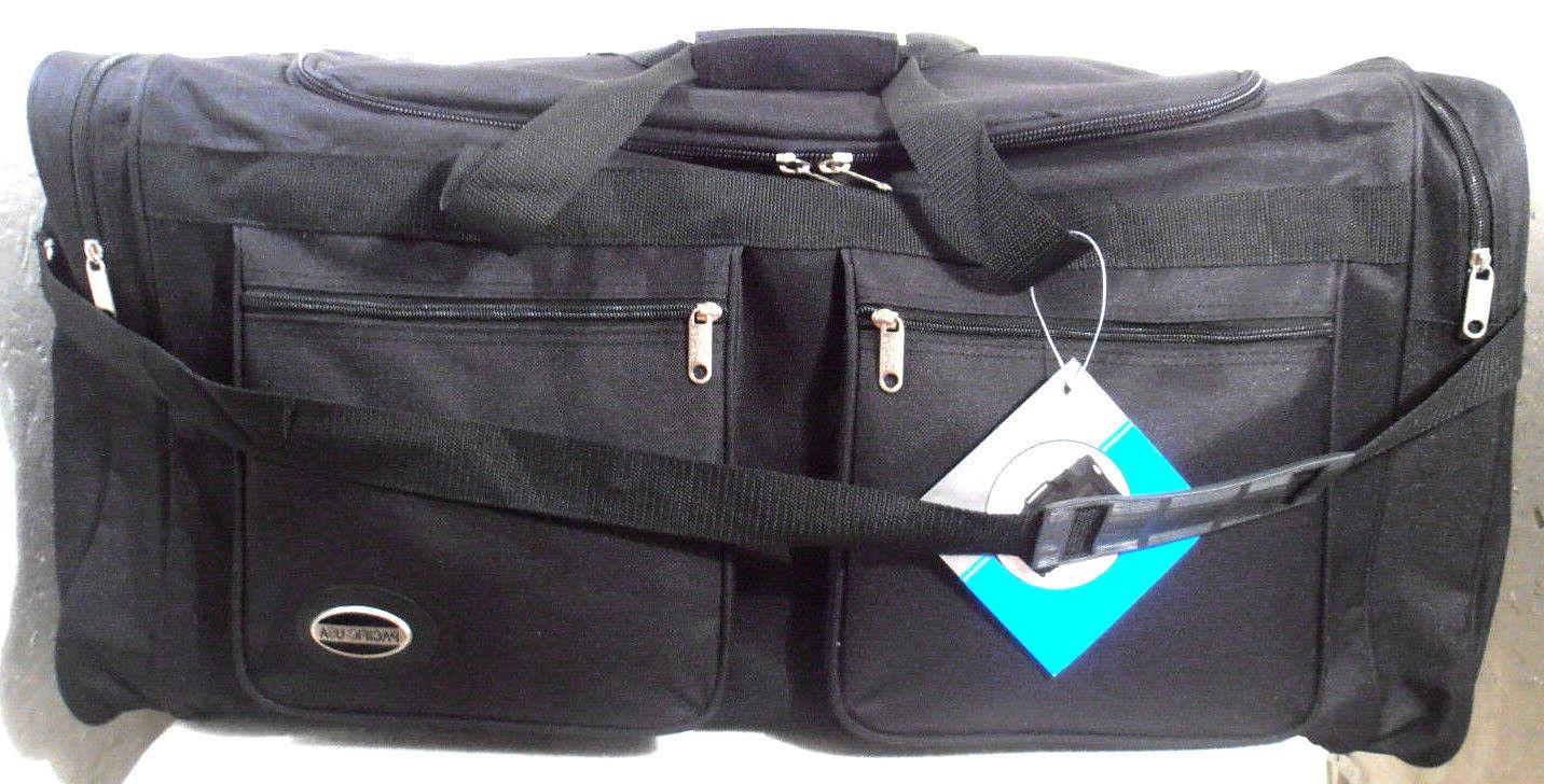 """NEW 30"""" INCH DUFFLE BAG BLACK MULTIBLE COMPARTMENTS  SHOULDE"""