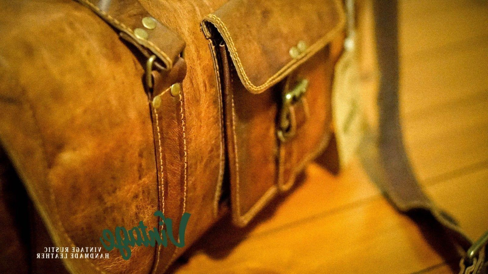 NEW Leather Duffle Bag Square