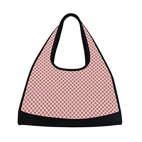Sport Gym Bag Valentines Dots Canvas Travel Duffel Bag