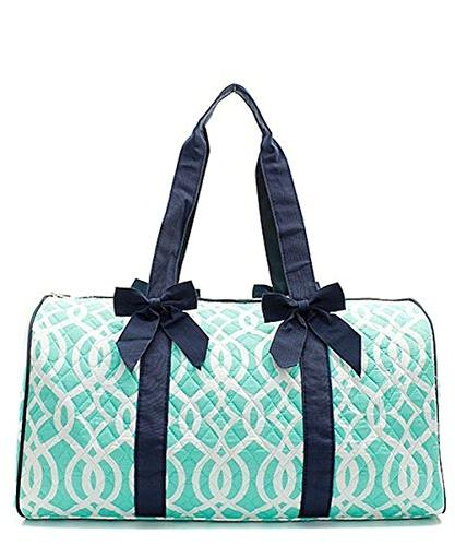 "Quilted Weekend Travel Overnight 20"" Large Duffle Bag II"