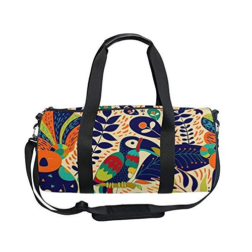 Sports Bag Ethnic Parrot Mens Duffle Luggage Travel Bags Kid