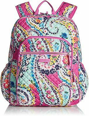 cf61c8bd3a4 Vera Bradley Iconic Campus Backpack, Signature Cotton, Wildflower