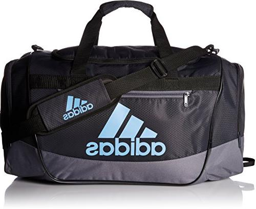 adidas Defender III Duffel Bag, Night Grey/Onix/Collegiate L