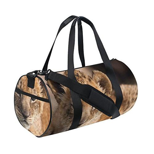 bag cheetah animal duffle luggage