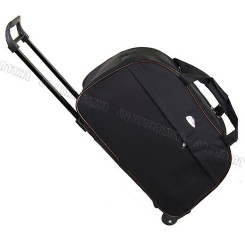 black rolling tote bag duffle wheeled carry