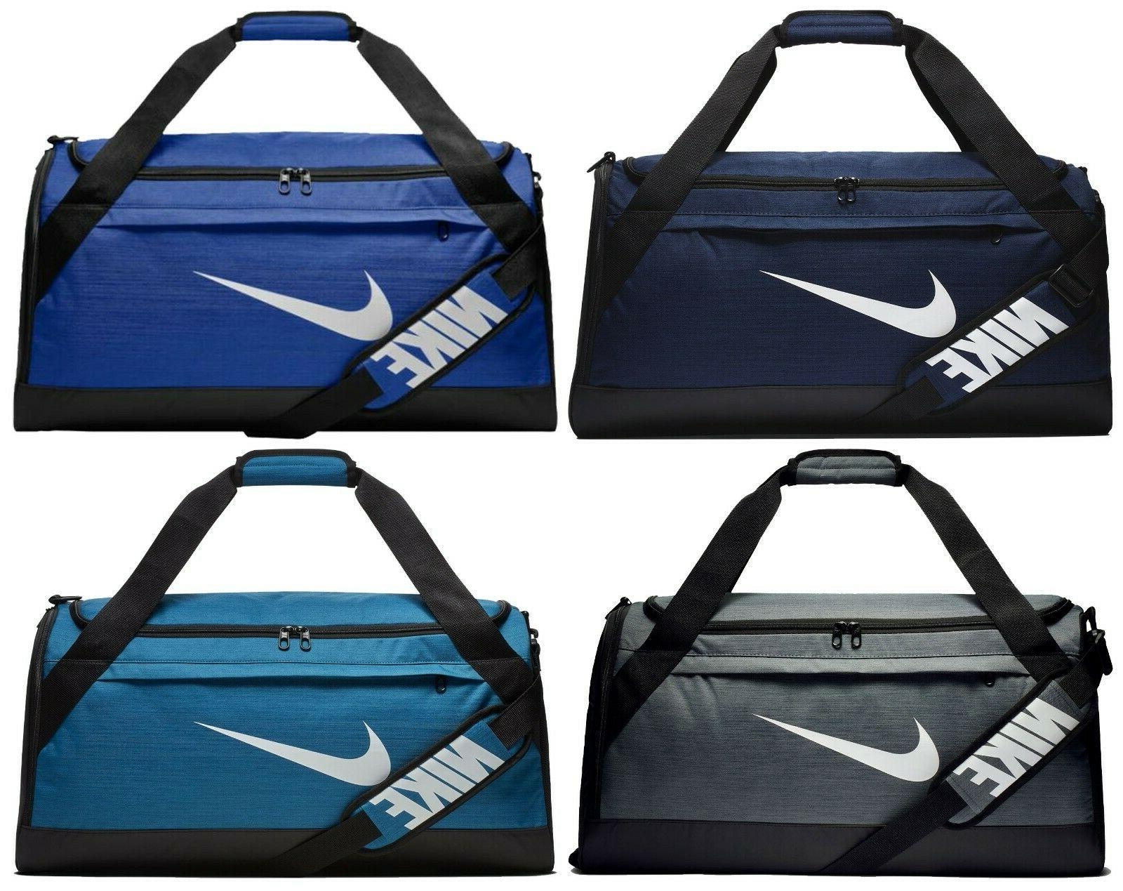 brasilia medium duffel gym bag blue grey