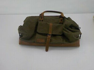 canvas duffel bag olive
