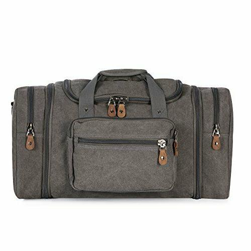 Canvas Duffle Way Zipper Top With Multiple Bag