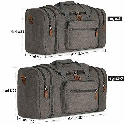 Canvas Duffle Way Zipper With Multiple Bag