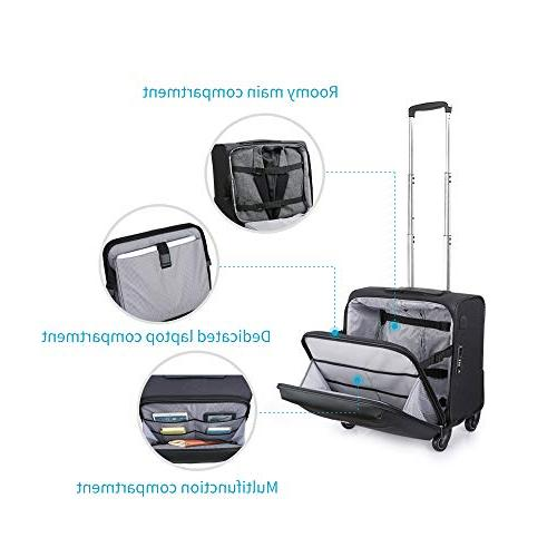 Hanke Carry-On Luggage Rolling Travel for Men Spinner Universal Wheel
