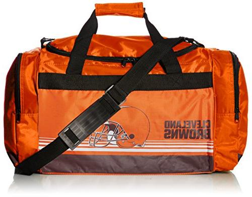 cleveland browns striped core duffle