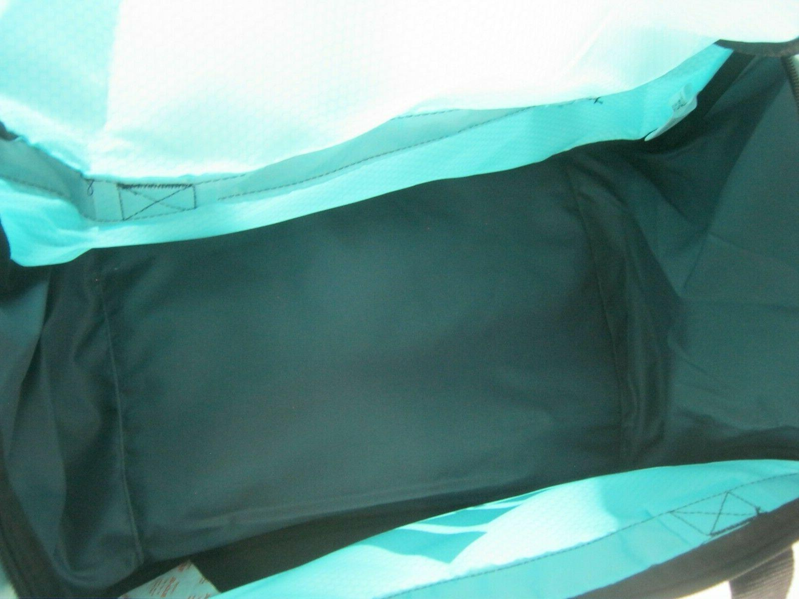 "ADIDAS DEFENSE MEDIUM Duffel Sport Bag 24"" TOP Clear AQUA/Black"