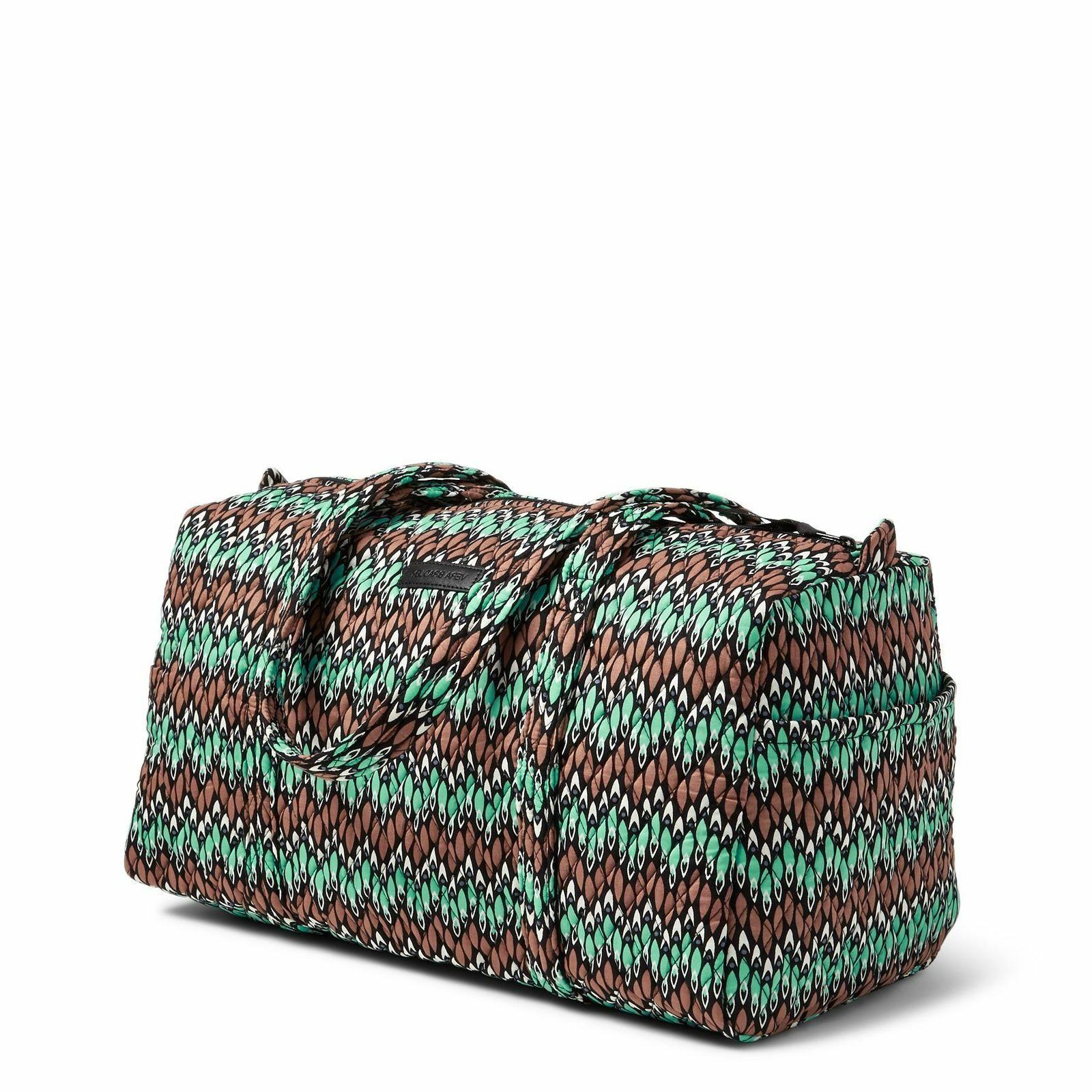 Vera Bradley Large Duffel Travel Bag in Sierra Stream Quilte