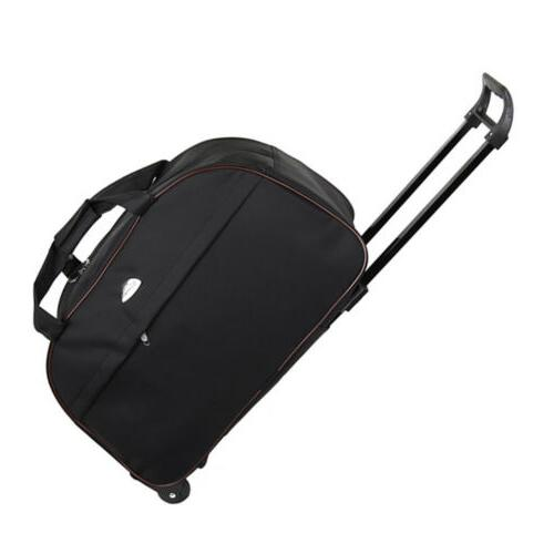 """24"""" Wheeled Duffle Bag Rolling Tote Travel Carry On Suitcase"""