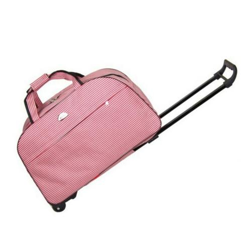 Women Rolling Wheeled Duffle Trolley Bag Tote Carry On Trave