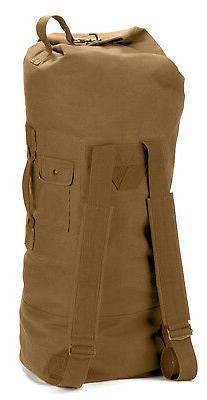 Duffle Bag - Canvas Double Strap, Coyote Brown by Rothco