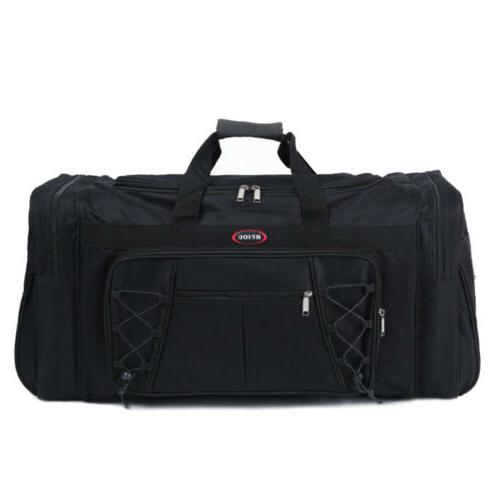 Duffle Tote Travel Gym Fitness Black