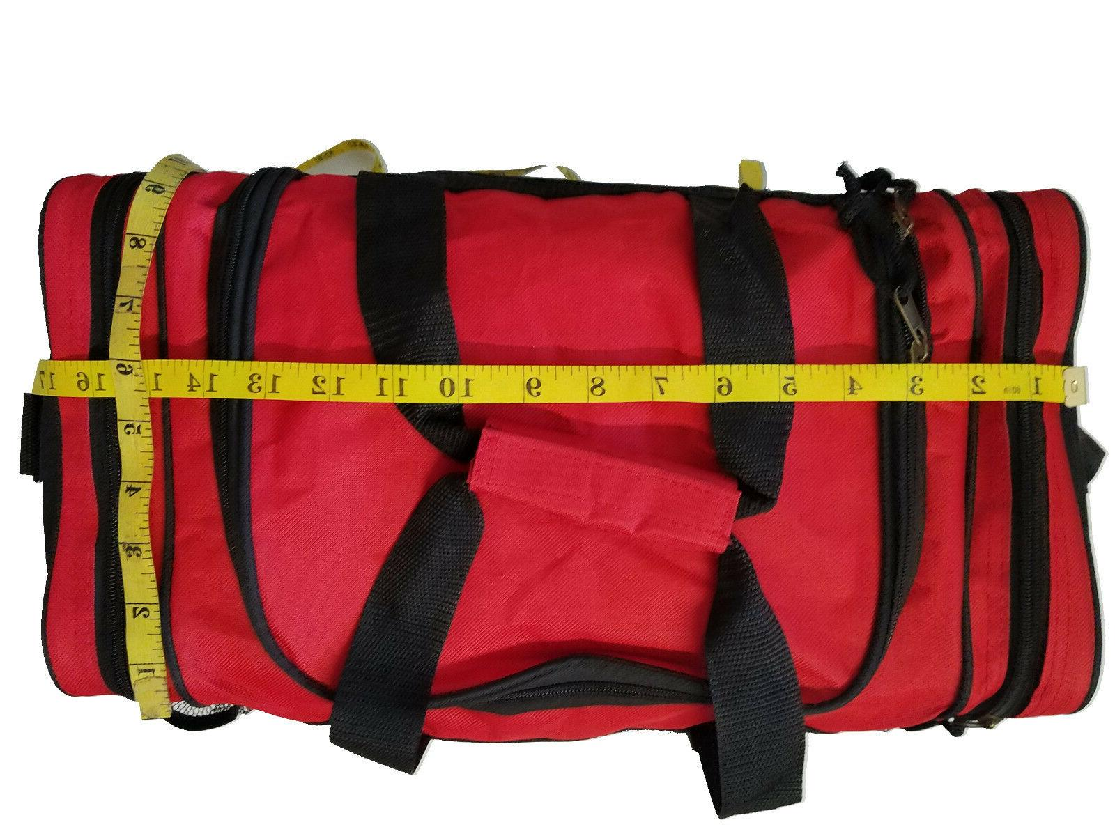 Duffle Bag Red Gray