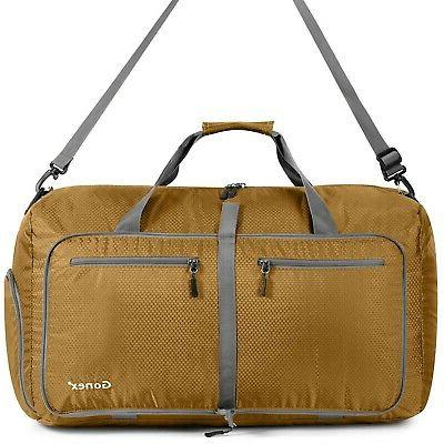 gold 80l foldable travel duffel bag