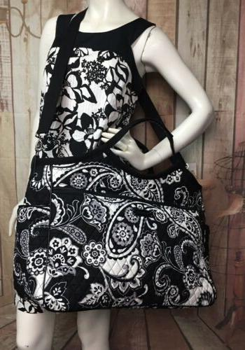 Vera Bradley GRAND TRAVELER BAG BLACK Paisley TAPESTRY Weeke