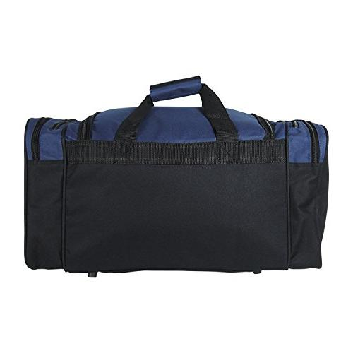 Dalix 20 Sports Duffle with and Valuables Pockets, Navy Blue