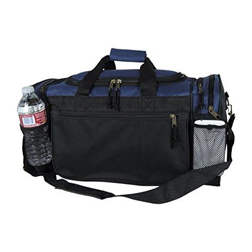 Dalix 20 Sports Duffle Bag and Valuables Navy Blue