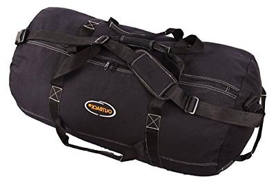 Ledmark Super Tough Heavyweight Cotton Canvas Duffle Bag, Bl